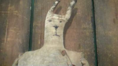 Primitive Antique Handmade Early Bunny Rabbit Doll   Easter