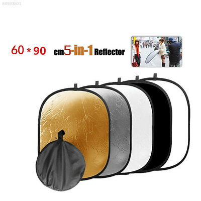 Oval Shape 60x90cm 5 in 1 Photo Studio Collapsible Folding Light Reflector Panel