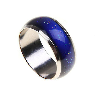 Alloy Metal Mood Ring Temperature Color Changing Emotion Feeling Band Ring