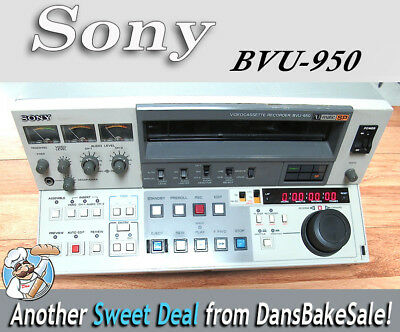 Sony U-Matic SP 3/4 BVU-950 Video Player/Recorder with TBC - Tested