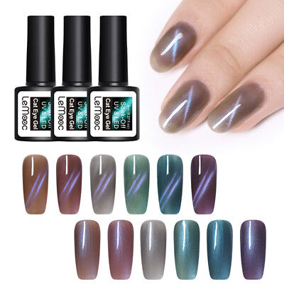 LEMOOC 8ml Blue Line Jelly Cat Eye Gel Polish Soak Off UV Gel Nail Art Varnish