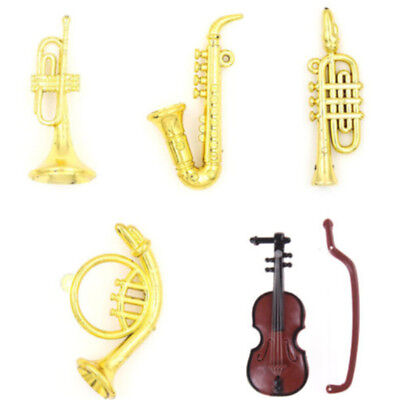 Miniature Music Instrument Model For 1:12 Doll House Room Garden Kit Accessory