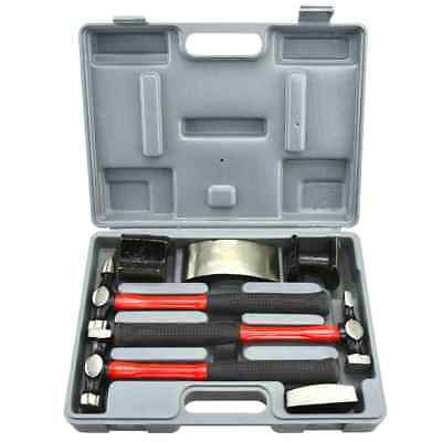 7pc Heavy Duty Auto Body Set Dent Fender Repair Kit| Hammer & Dolly Kit