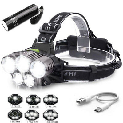 5 LED Head Cap Hat Light HeadLamp Headlight Fishing Clip On For Outdoor Camping