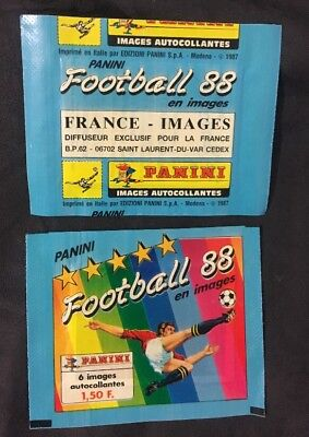 Bustina Pochette Packet Sealed Panini  France Championnat Foot Football 88 1988