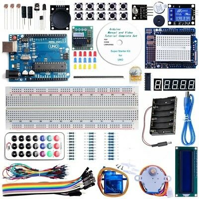 128 in 1 Advanced Starter Set with Tutorial Kit for Arduino UNO R3 Learning Suit
