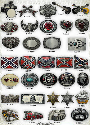 Buckle Choice Western, Rockabilly, Sailor, Gothic, Biker, Country