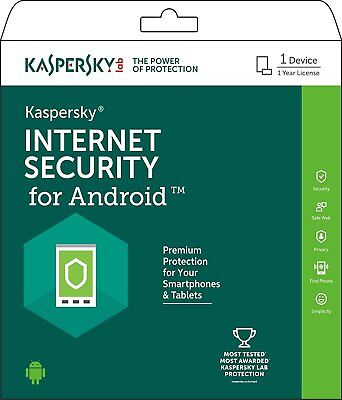 Kaspersky Internet Security for Android 1 Device GLOBAL Key 1YR protect