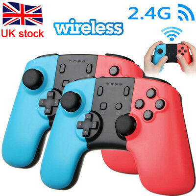 2x Wireless Pro Controller Joypad Gamepad Remote for Nintendo Switch Console UK