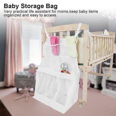 Infant Bed Hanging Storage Bag Diaper Toys Baby Items Organizer Holder Portable