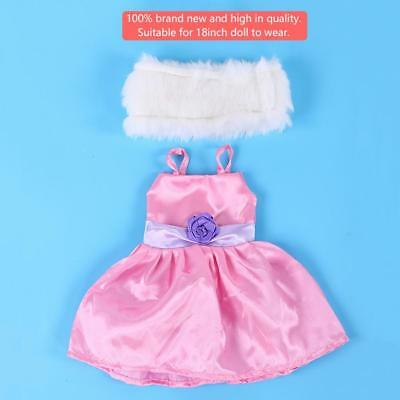 DIY Fashionable Toy Accessories Clothes Dress Shawl Suits for 18inch Baby Doll