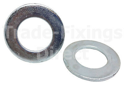 M4 (4mm) Form A HEAVY DUTY WASHERS ZINC PLATED