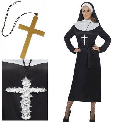 Nun Habit Costume Womens Ladies Sister Act Holy Religious Fancy Dress Outfit New