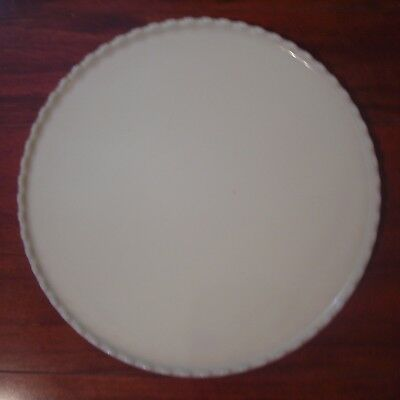 "14 1/4"" Custard Glass Round Ritter Dental Tray"