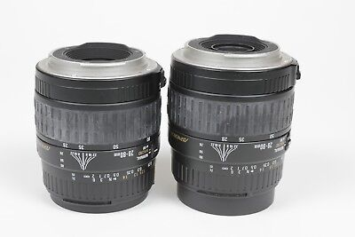 Two (2) Sigma Zoom AF 28-80mm f3.5-5.6 II ASPH Macro Lens Canon EF Parts/Repair