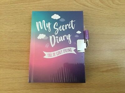 Girl's My Secret Diary 2019 Lockable with lock and 2 keys New