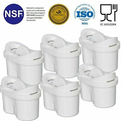 Universal Pack of 6 Water Filter Cartridges For Brita, Bosch, Maxtra Water Jugs