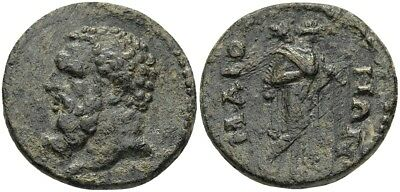 FORVM VF Maionia Lydia AE19 2nd Early 3rd Cent Herakles / Omphale