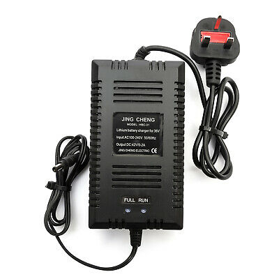 36v 10amp / 15amp Lithium Battery Charger 0-2amp Mobility Scooter UK Mains Plug