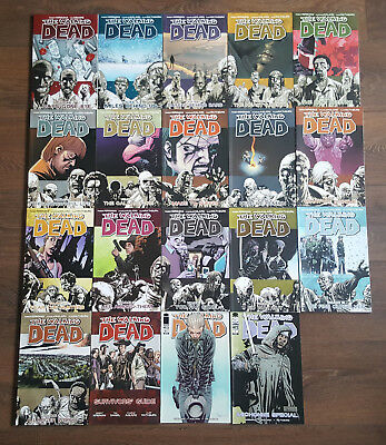 The Walking Dead Vol 1-16 with Survivors Guide and Special Used Nice Condition