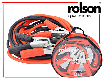 Rolson 600 Amp Jump Boost Cable Leads, 2.9 mtr, 42950