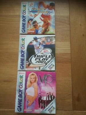 Track and Field Triple Play 2001 VIP Pamela GBC Gameboy Color - OVP + Anleitung