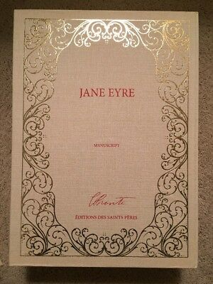 RARE Jane Eyre Manuscript Facsimile 3-volume Set In Slipcase NEW