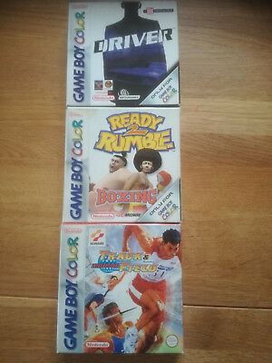 Track and Field Driver Ready to Rumble Boxing GBC Gameboy Color OVP + Anleitung