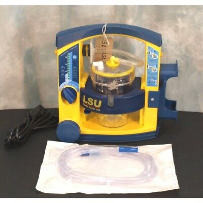 Laerdal Suction Unit LSU with Patient Canister, NEW battery & Mains lead & Hose