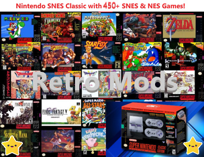 Super Nintendo Classic Edition Console SNES Mini Entertainment System 400+ Games