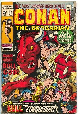 Conan The Barbarian 10 Marvel 1971 VG Giant Size Barry Windsor Smith Stan Lee