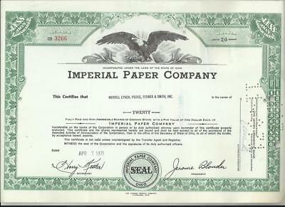 4 Aktien - Imperial Paper Co - Seatrain Lines - Hotel Corporation - Imperial Oil