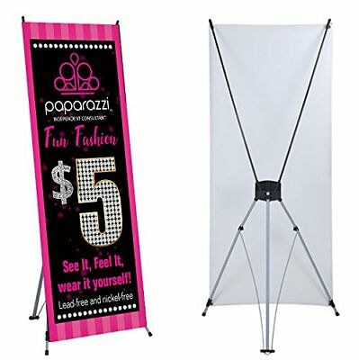 "Paparazzi Banner X stand Included 24""x 63"" Events trade shows Ready Hang Display"