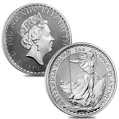 Lot of 2 - 2019 Great Britain 1 oz Platinum Britannia Coin .9995 Fine BU