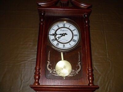 Emperor Quartz Westminster Chiming Wall Clock Vintage