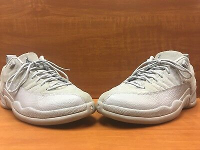 competitive price e9084 03a5e Nike Air Jordan 12 XII Retro Low Wolf Grey Armory Navy 308317-002 Size