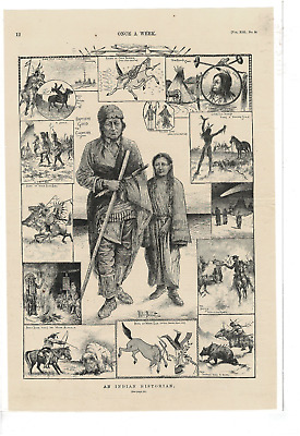 Vintage Once A Week Magazine An Indian Historian W Bobbitt 2 Page Ad Print D870