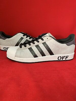 5361de99ff3 Men s Adidas Superstar 9.5 Brand New Custom Gray Ostrich Black Metallic Wht
