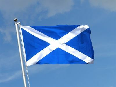 Scottish St Andrew's Large Flag 5ft x 3ft / 1.5m x 90cm Polyester with Eyelets