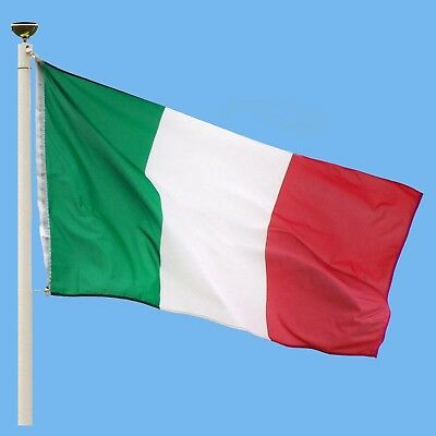 Italy Italian Large Flag 5ft x 3ft / 1.5m x 90cm Polyester with Eyelets