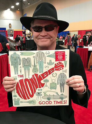 """The Monkees 12"""" Vinyl Album """"Good Times!"""" Signed By Micky Dolenz To You!"""