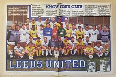 Match Football Magazine A3 Centre Page Team Picture 1984/85 Season Various Teams