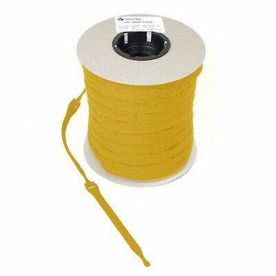 Velcro Cable Ties One Wrap Reusable Double Sided Strapping10 x 25mmx300mm yellow