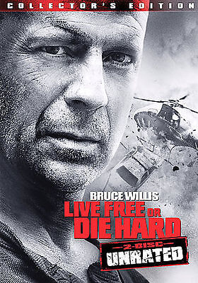 Die Hard 4: Live Free or Die Hard (DVD, 2007, 2-Disc Set, Unrated)
