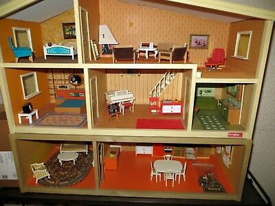 60 Pieces Of Vintage Lundby Dollhouse Furniture Accessories