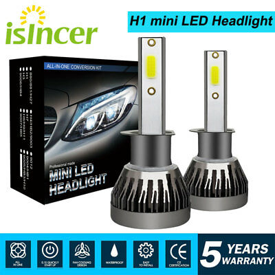 2PCS CREE H1 LED Headlight Conversion Kit 1500W 180000LM 6000K Hi/Lo Beam Bulbs