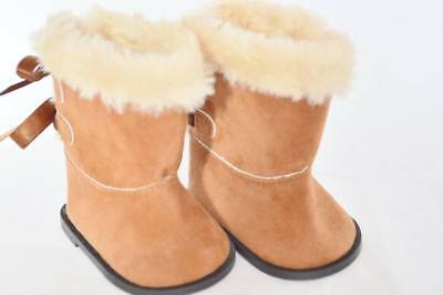 Brown Hugg Winter Doll Shoes Boots Fits 18 Inch American Girl Doll Clothes