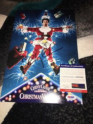 Chevy Chase Signed 8x12 Photo National Lampoons Christmas Vacation PSA/DNA