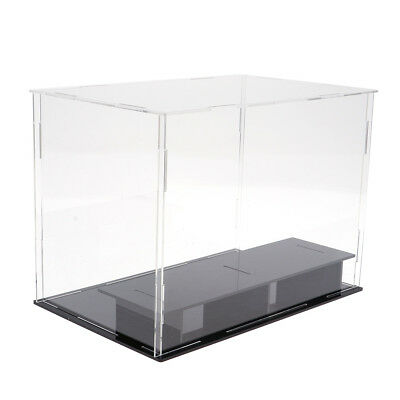 MagiDeal Acrylic Toy Display Show Case Dustproof Box for 6 Character Figures