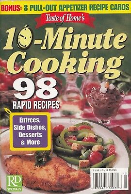 Taste Of Home's 10 Minute Cooking 2003 Cookbook 8 Appetizer Recipe Cards, Soups